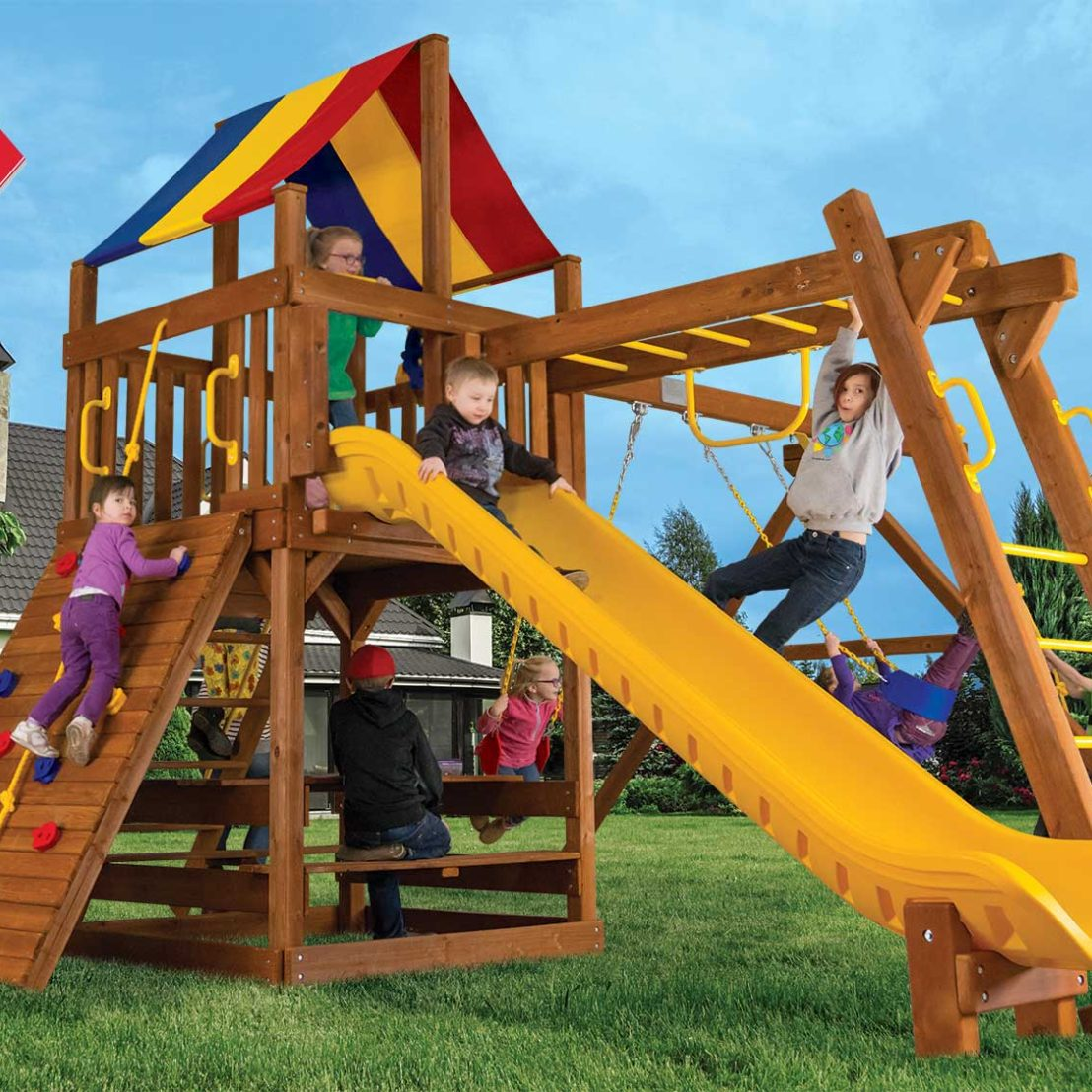 Fiesta Clubhouse Pkg III Outdoor Playsets
