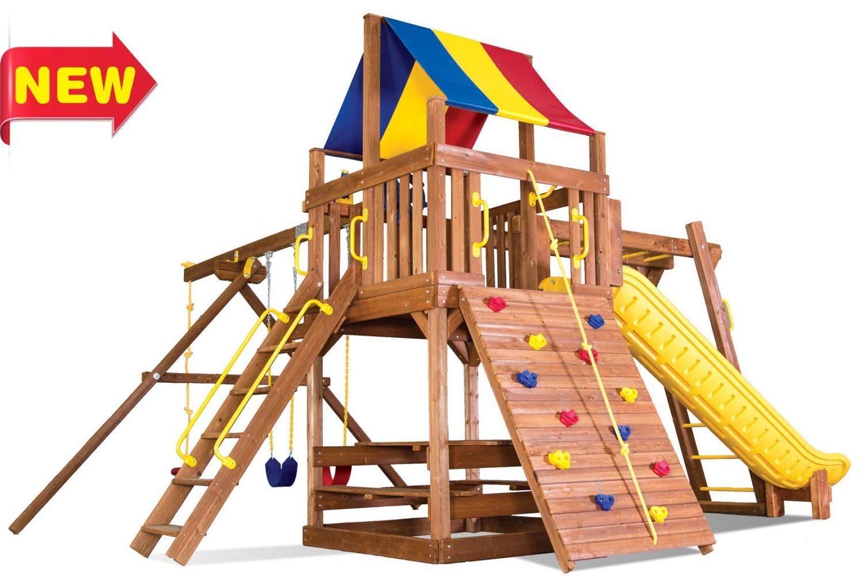 Fiesta Clubhouse Pkg III Wooden Swing Sets