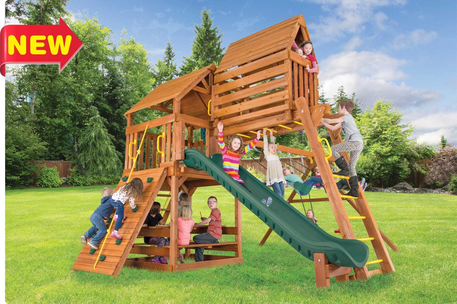 Fiesta Clubhouse Pkg IV Outdoor Playsets