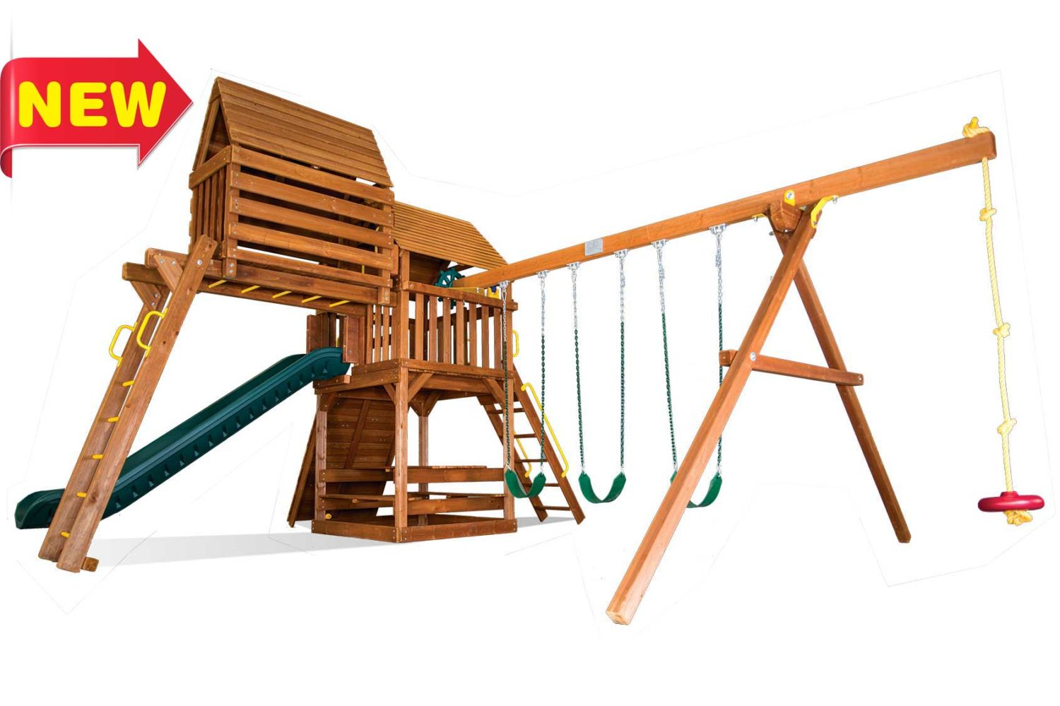 Fiesta Clubhouse Pkg IV Wooden Swing Sets