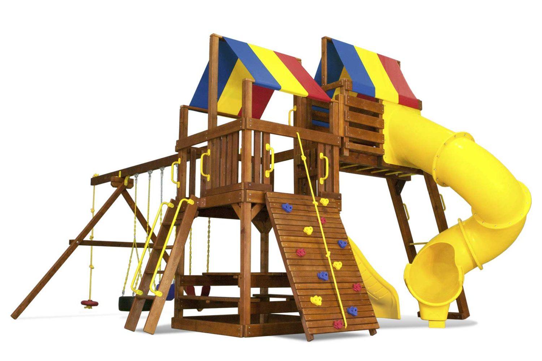 Fiesta Clubhouse Pkg V Loaded Wooden Swing Set