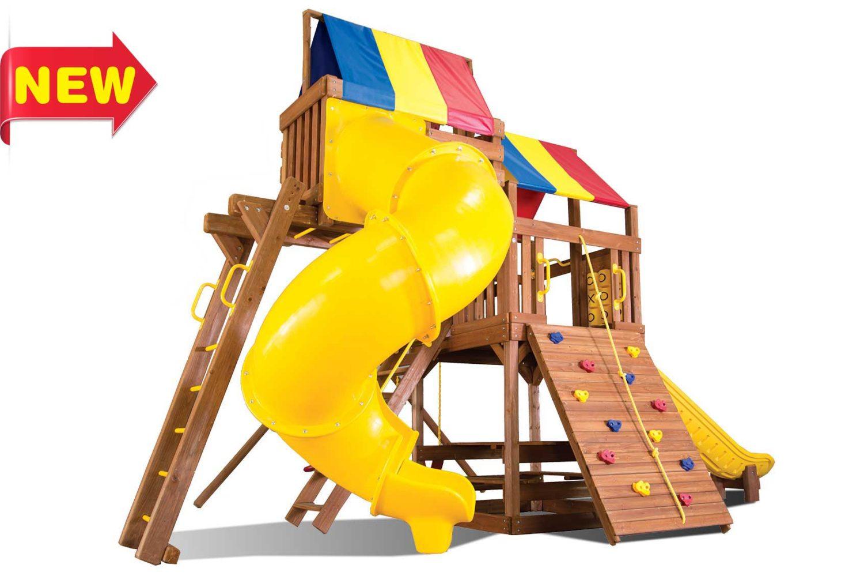 Fiesta Clubhouse Pkg V Wooden Swing Sets