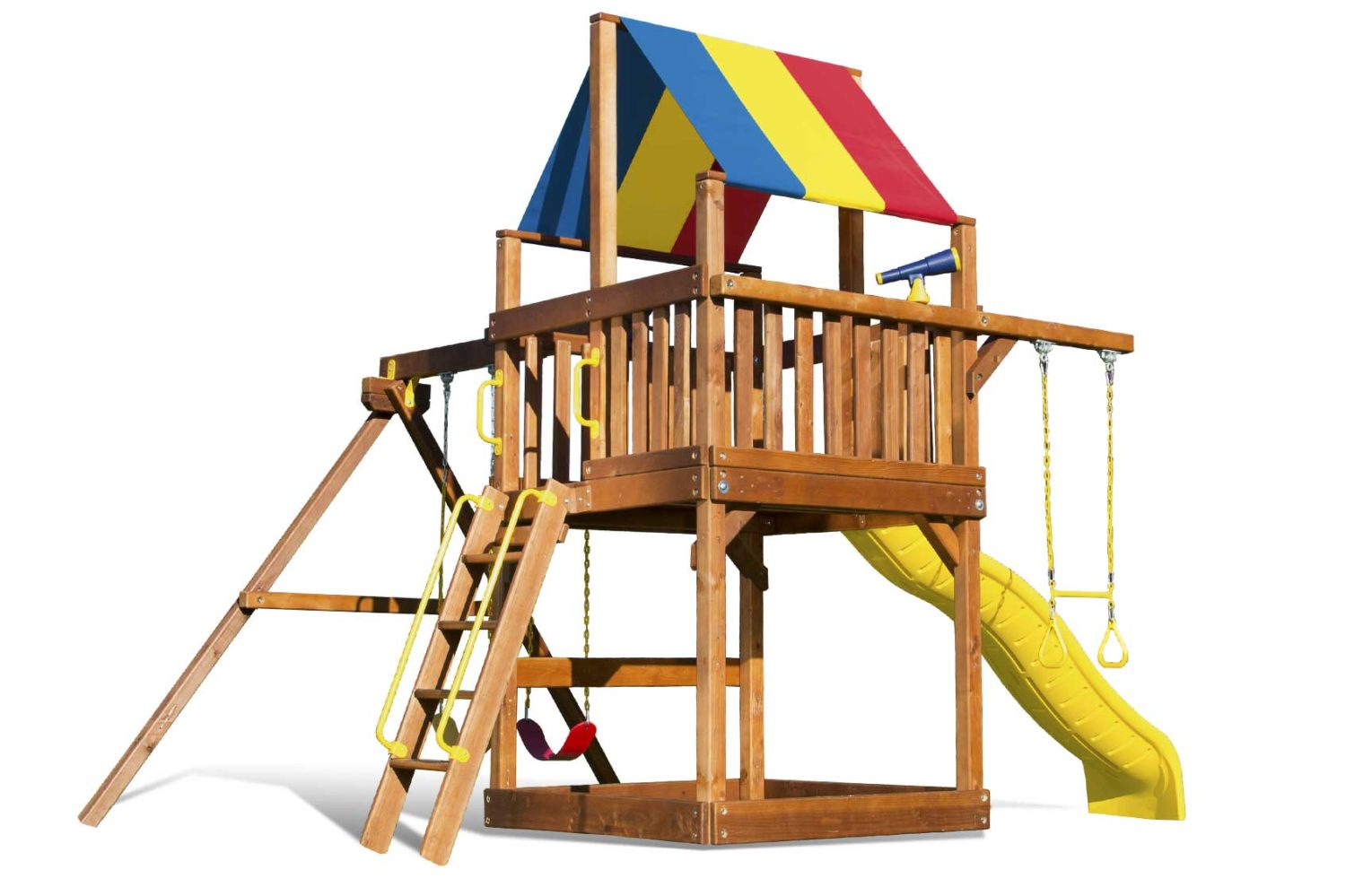Carnival Base Clubhouse Pkg II Wooden Swing Sets