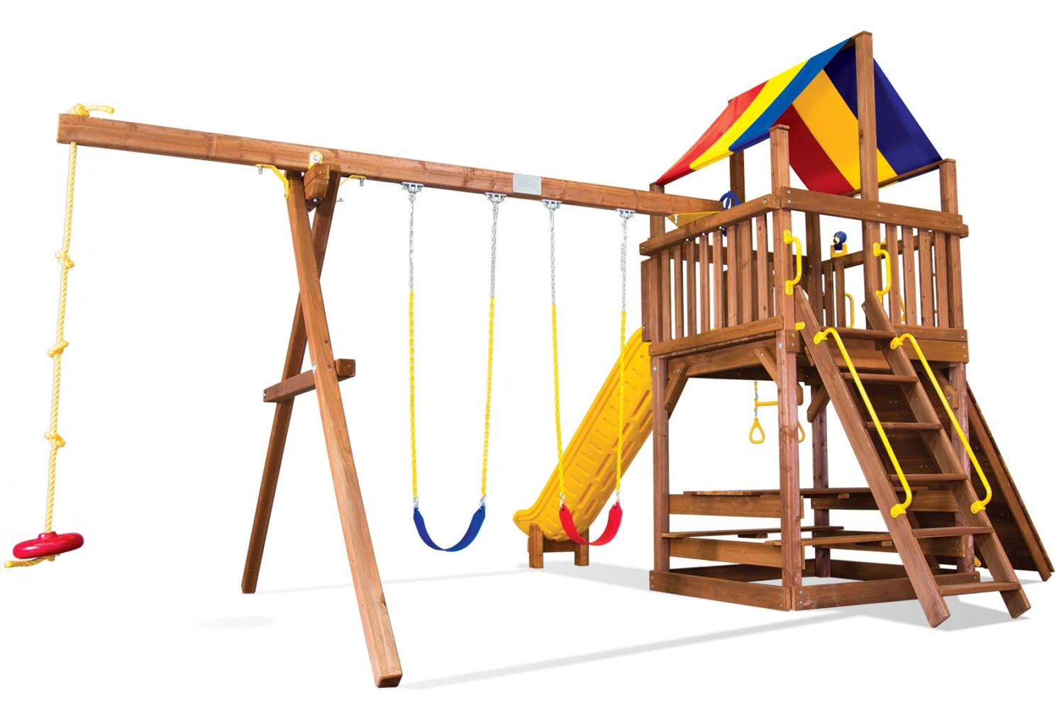 Carnival Clubhouse Pkg II Loaded Wooden Swing Set