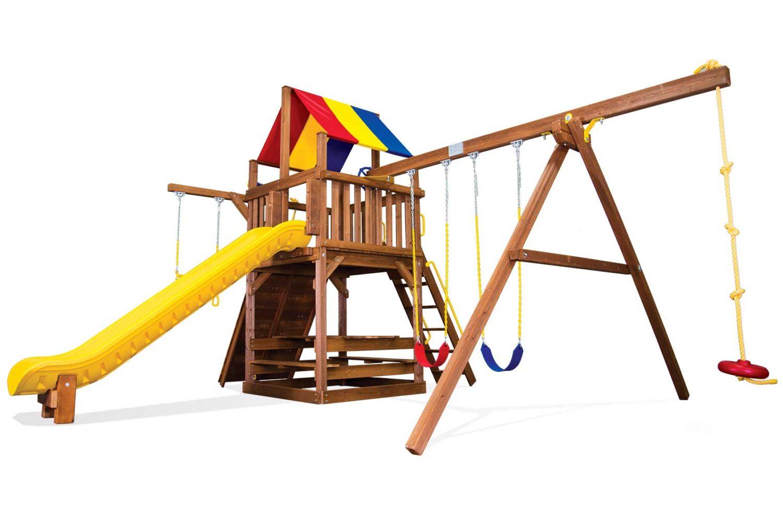 Carnival Clubhouse Pkg II Loaded Wooden Swing Set