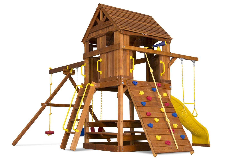 Carnival Clubhouse Pkg II Upper Level Cabin Wooden Swing Set
