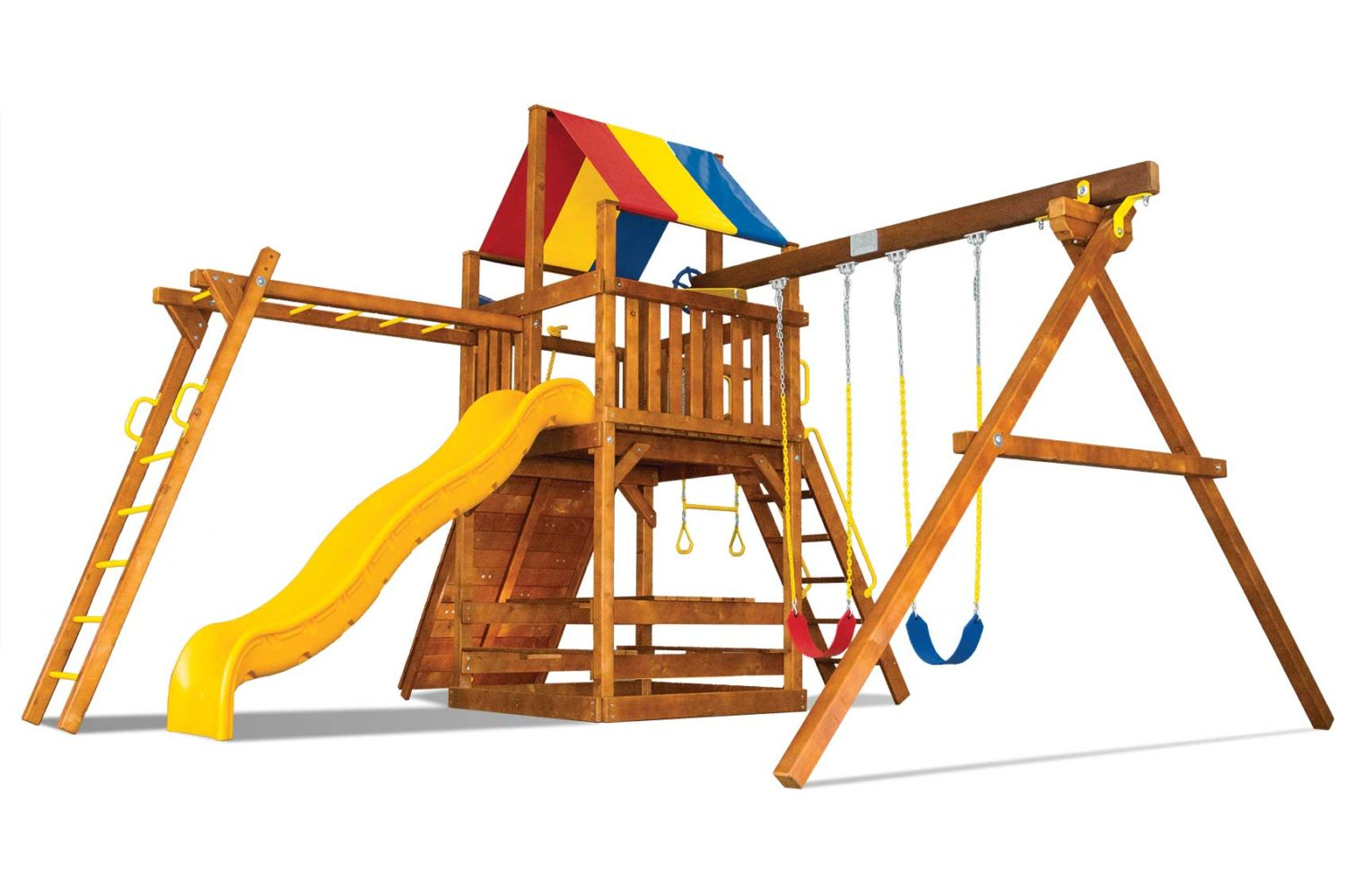 Carnival Clubhouse Pkg III Wooden Swing Set