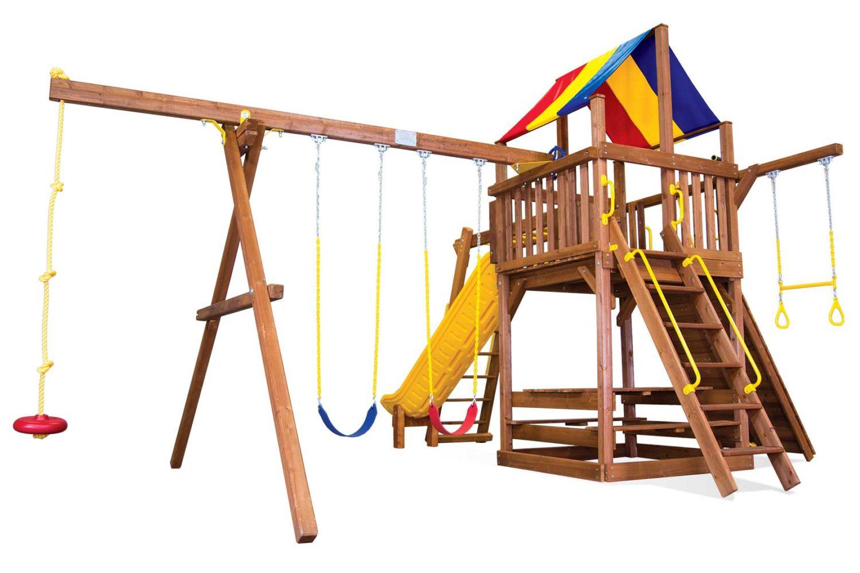 Carnival Turbo Clubhouse Pkg III Wooden Swing Set