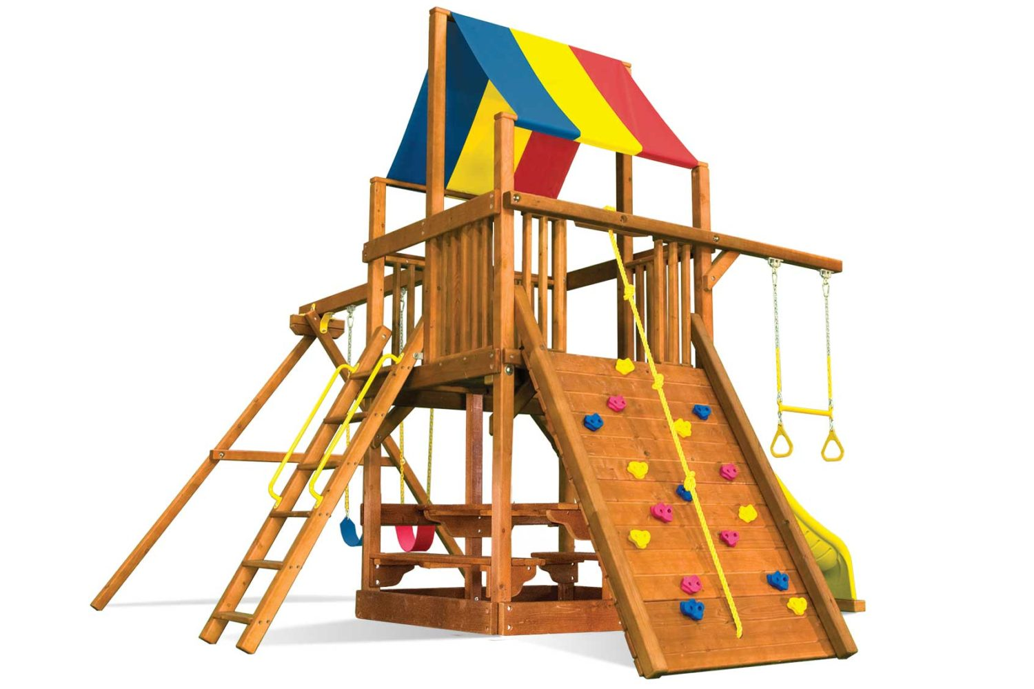 Rainbow Clubhouse Pkg II Popular Wooden Swing Set