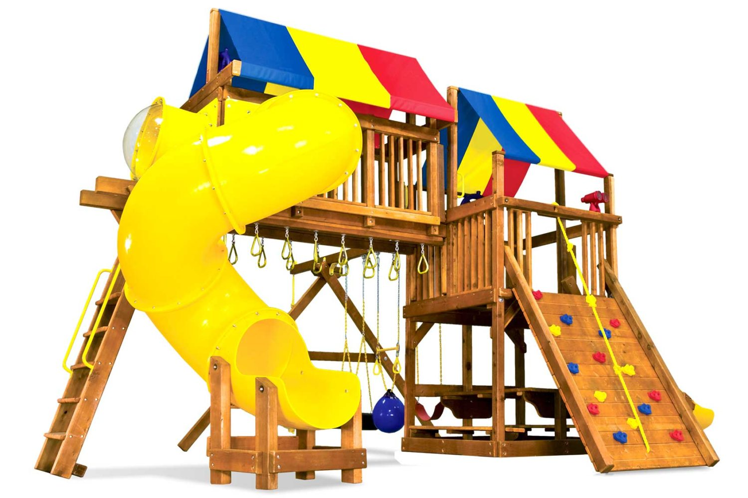 Rainbow Clubhouse Pkg V Magnificent Wooden Swing Set