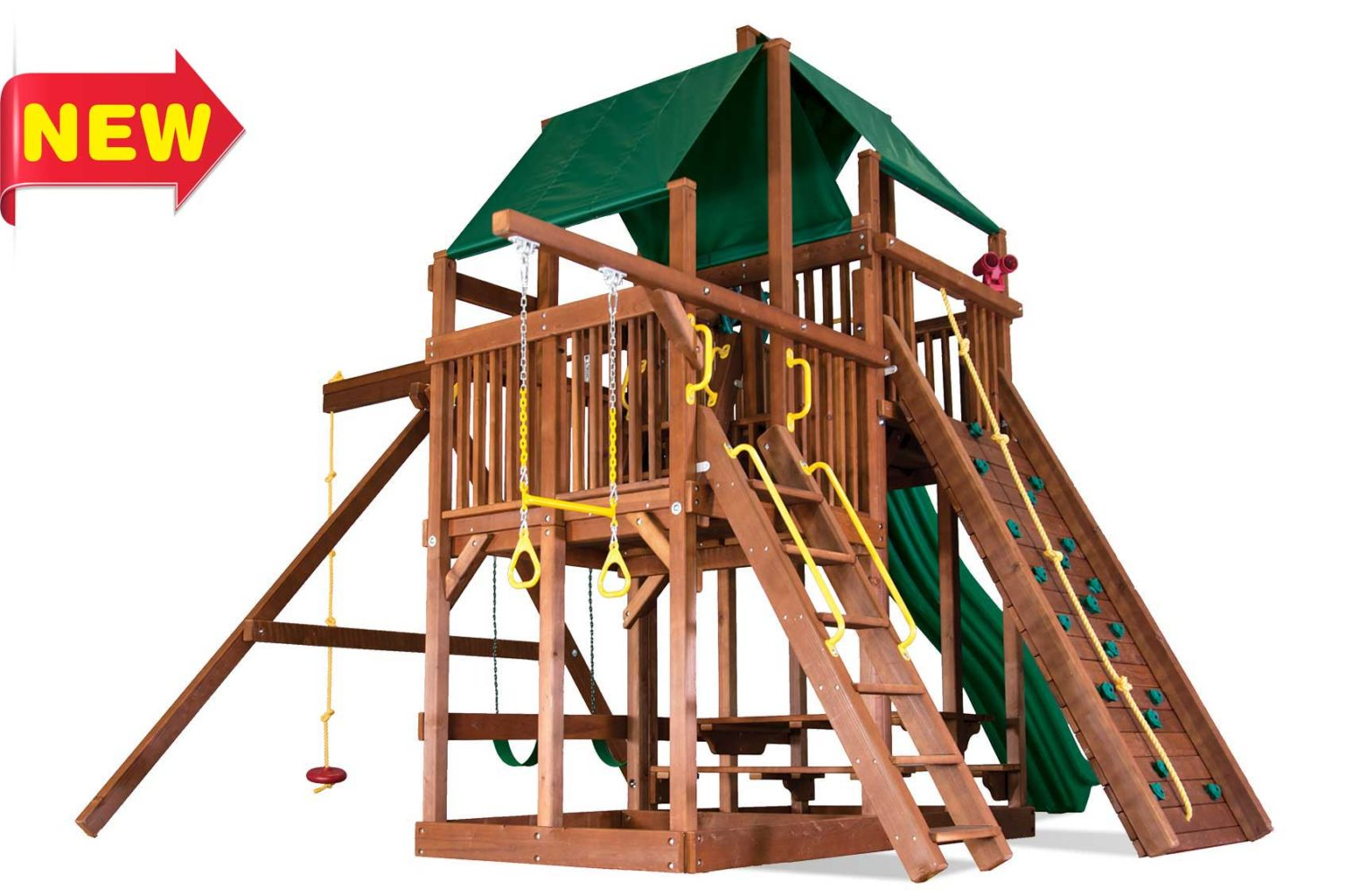 King Kong Clubhouse Pkg II Wooden Swing Sets