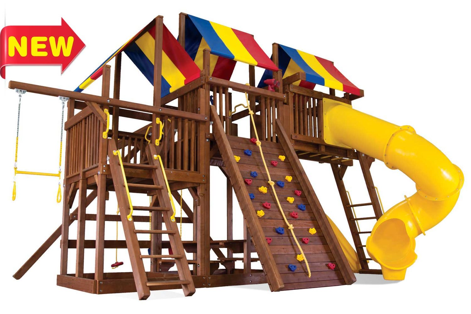 King Kong Clubhouse Pkg V Wooden Swing Sets