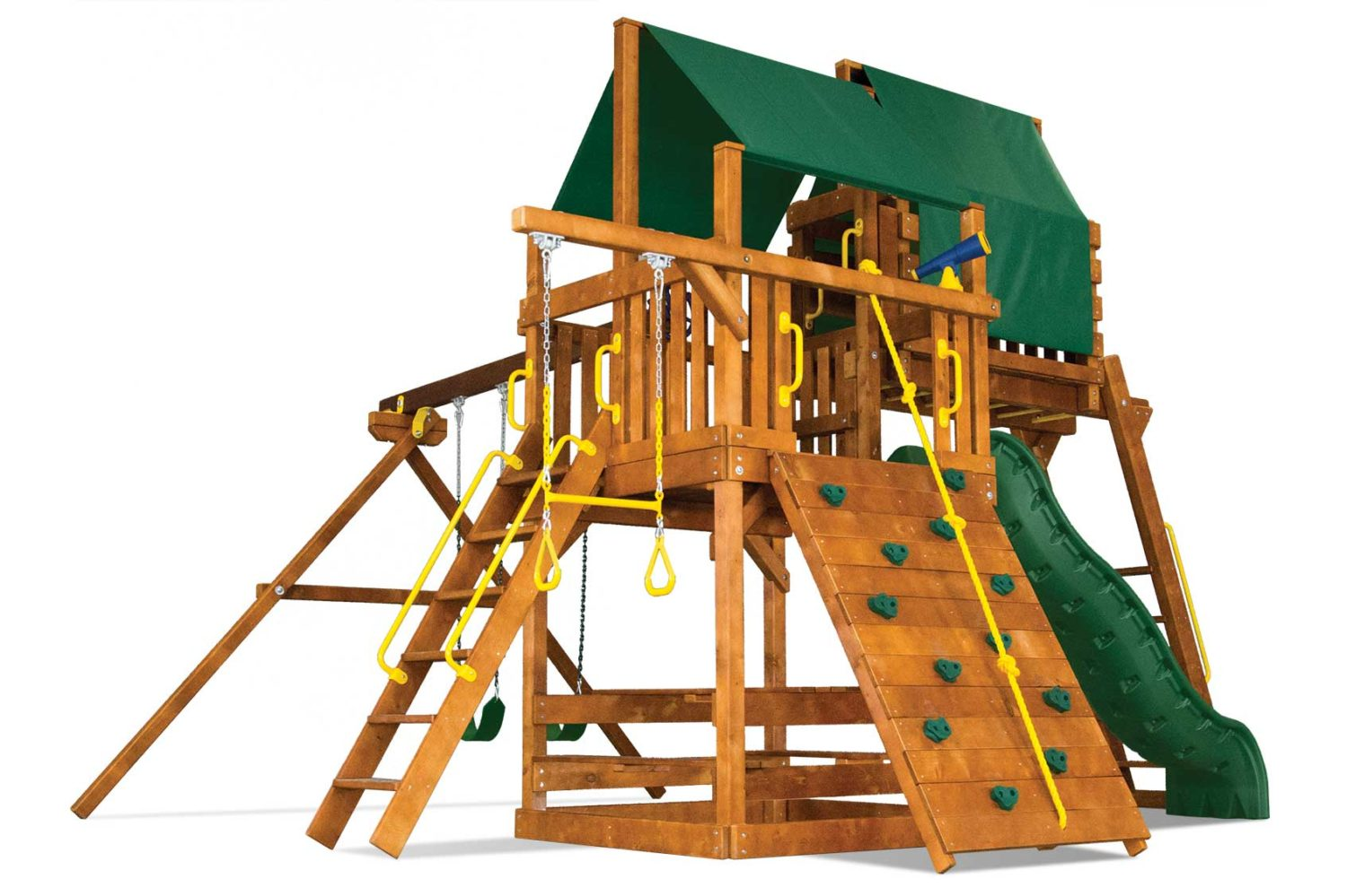 Carnival Clubhouse Pkg IV Wooden Swing Set