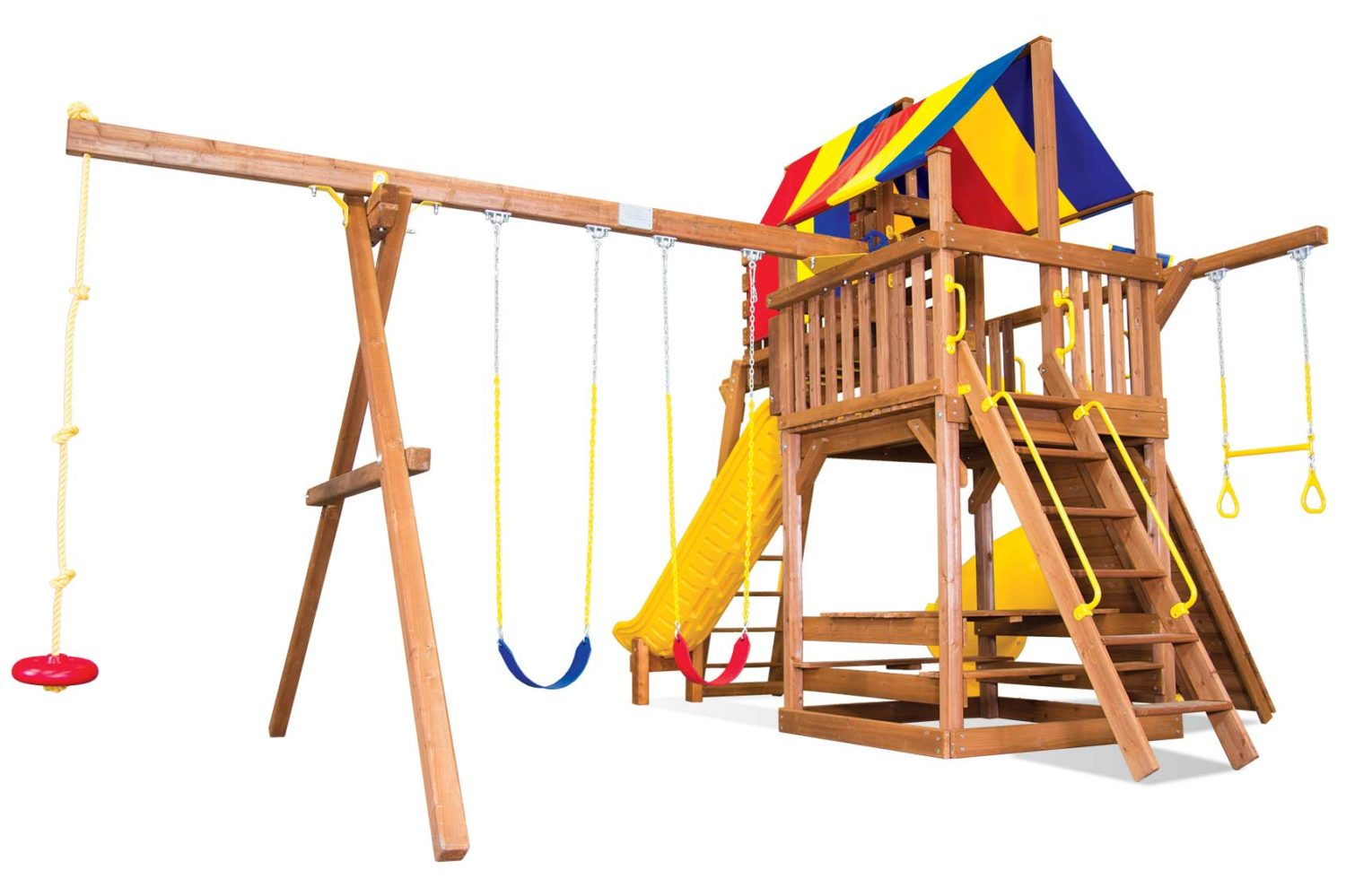Carnival Clubhouse Pkg V Modified Wooden Swing Set