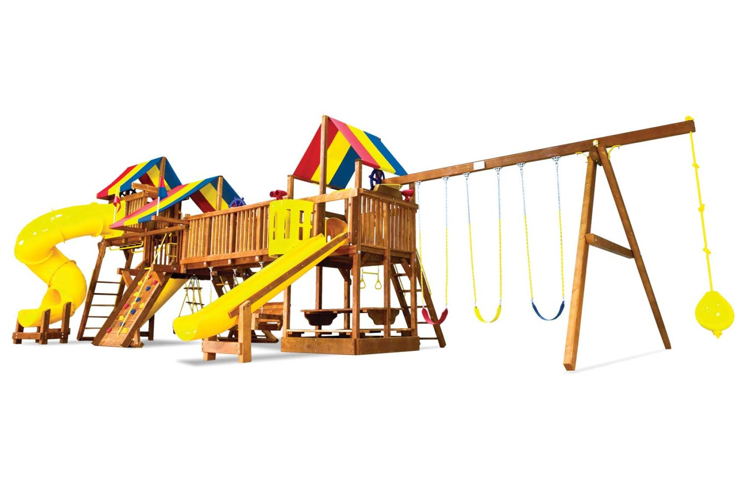 Rainbow Double Whammy Custom Combination Special Order Wooden Swing Set
