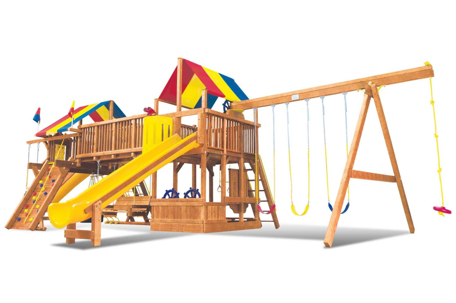 Rainbow Super Turbo Double Whammy Monstrosity Special Order Wooden Swing Set