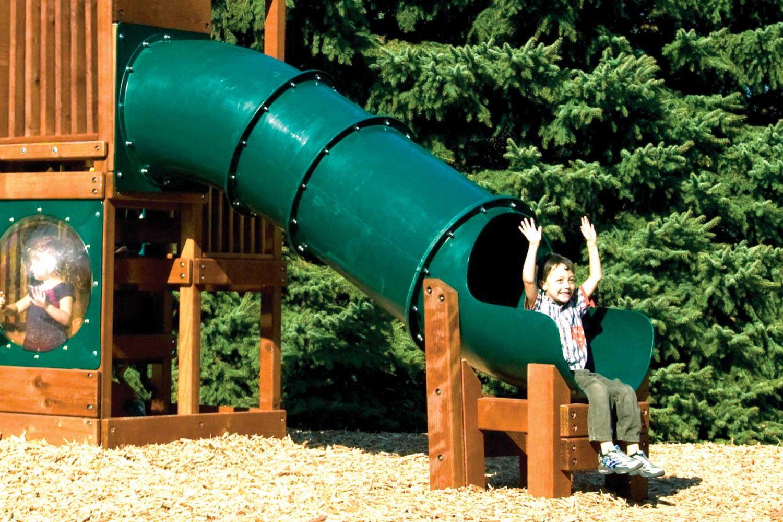 Commercial Green Tube Slide