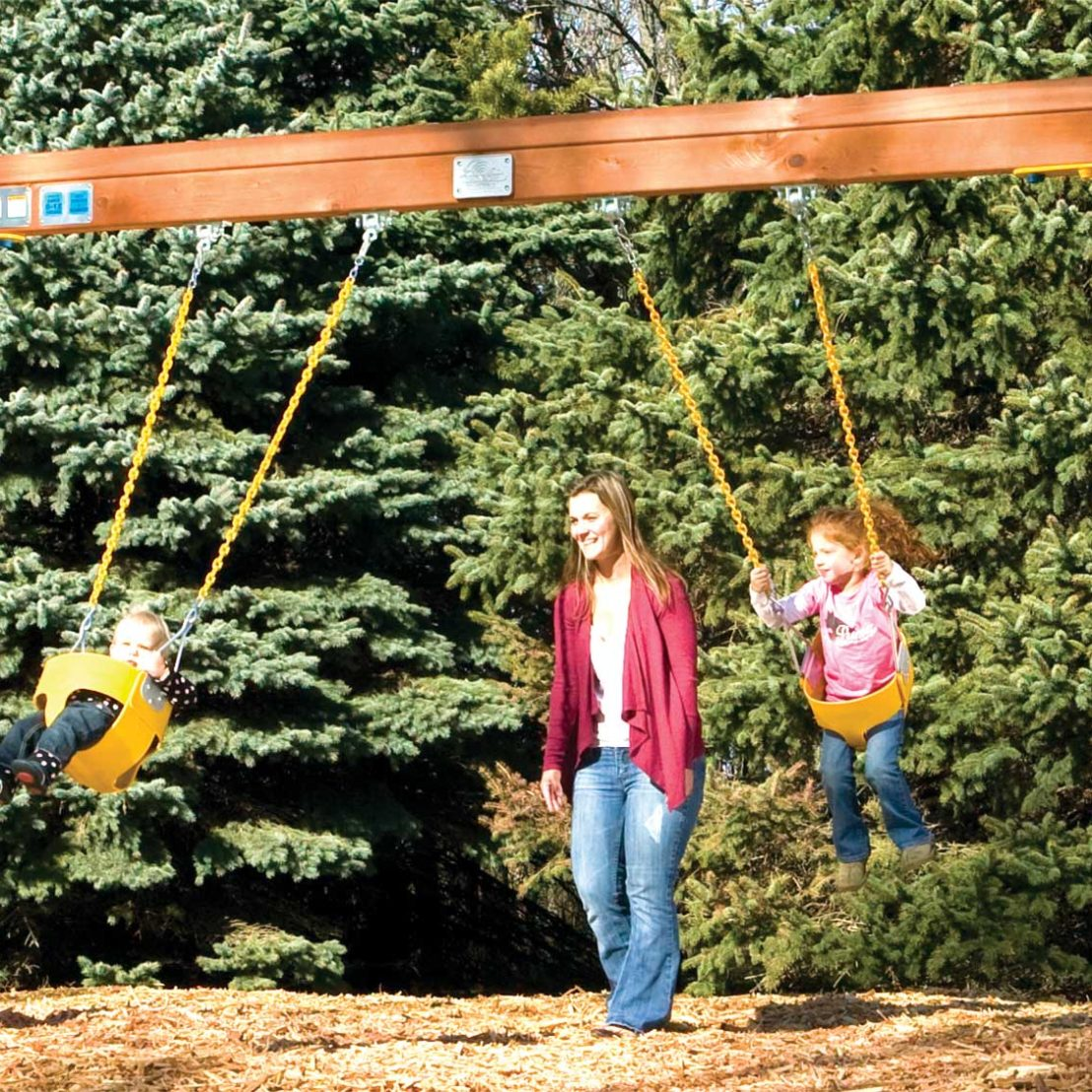 Commercial Toddler Wooden Swing Beam