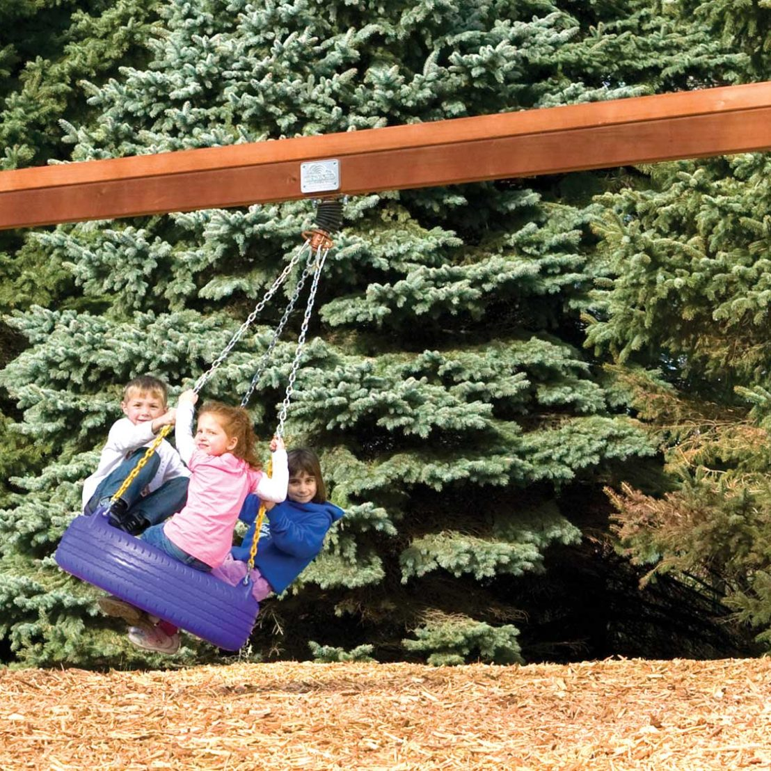 Commercial Tire Wooden Swing Beam