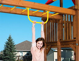 72 Stationary Chin Up Bar Swing Beam Rainbow Playset Accessories