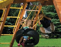 100 Castle 360 Tire Swing Rainbow Swing Set Accessories