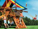 104 Castle Double Swing Arm Rainbow Playset Accessories