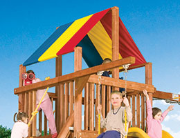 107 Club Red Yellow Blue Canopy Rainbow Playset Canopy