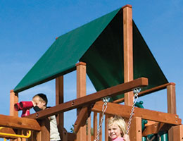 108 Club Forest Green Canopy Rainbow Playset Canopy