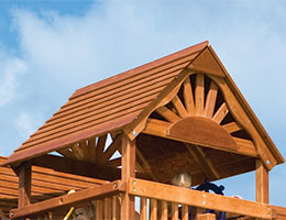109 Club Wood Roof with Fans Rainbow Playset Accessories