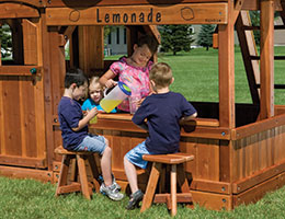 122 Club Lemonade Stand with Stools Rainbow Playset Accessories