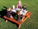 128 Free Standing Picnic Table Rainbow Playset Accessories