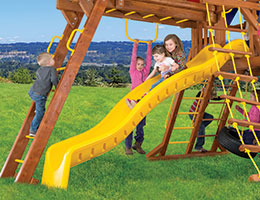 132 10.5ft Wave Slide Rainbow Playset Slide