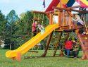 13 10.5ft Scoop Slide Rainbow Playset Slide