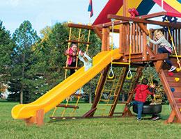133 10.5ft Scoop Slide Outdoor Slides
