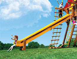 136 15ft Super Scoop Slide Rainbow Playset Slide