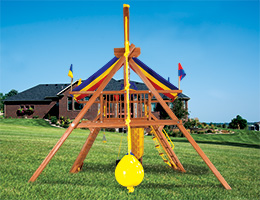 147 Extended A Frame Leg for Unlevel Yard Rainbow Playset Accessories