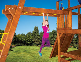 151 Fiesta, Carnival and Sunshine Monkey Bars Swing Set with Monkey Bars