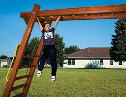 152 Rainbow Monkey Bars Swing Set with Monkey Bars