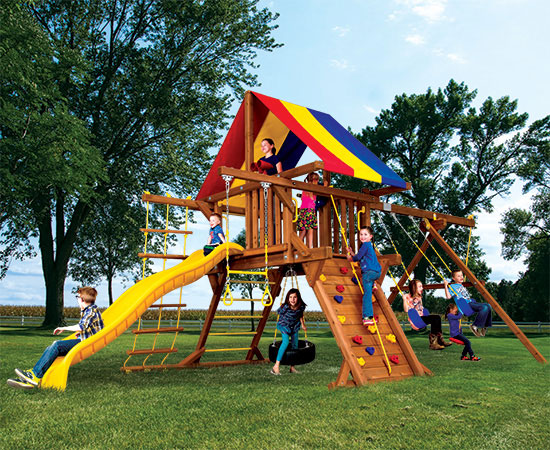 15B Fiesta Castle Pkg II Feature Model Swing Set