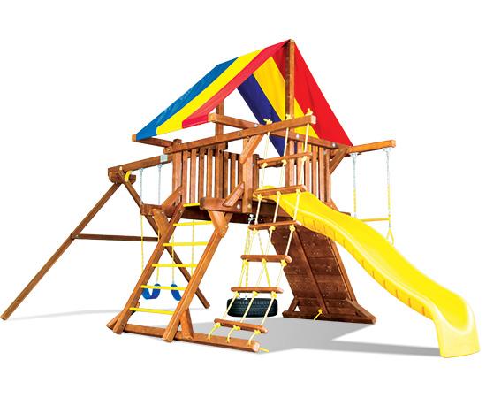 16C Fiesta Castle Pkg II Popular Swing Set