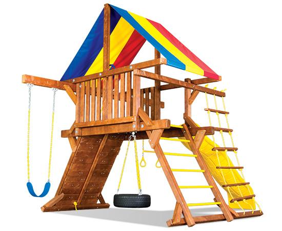 16D Fiesta Castle Pkg I Swing Set