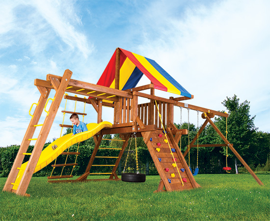 17F Fiesta Castle Pkg III Swing Set