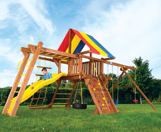 17F Fiesta Castle Pkg III Swing Set