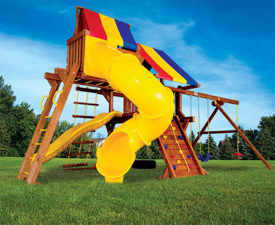 17G Fiesta Castle Pkg V Swing Set