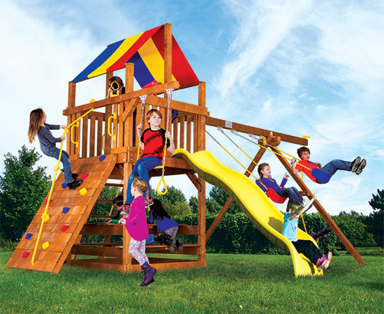 19B Fiesta Clubhouse Pkg II Feature Model Swing Set