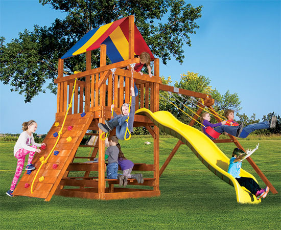 20C Fiesta Clubhouse Pkg II Popular Swing Set