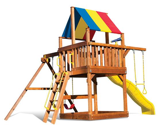 20D Fiesta Clubhouse Pkg II Basic Swing Set