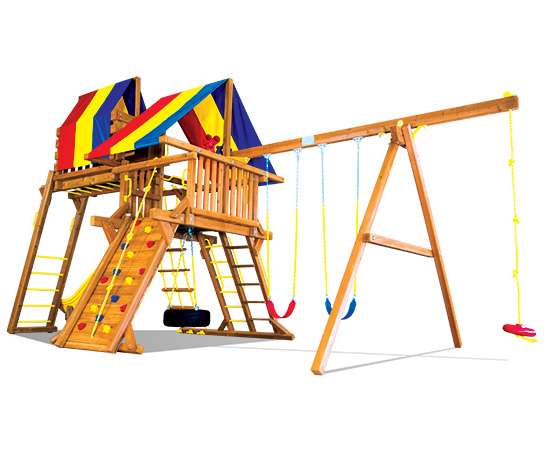 22A Carnival Castle Pkg IV Loaded Swing Set