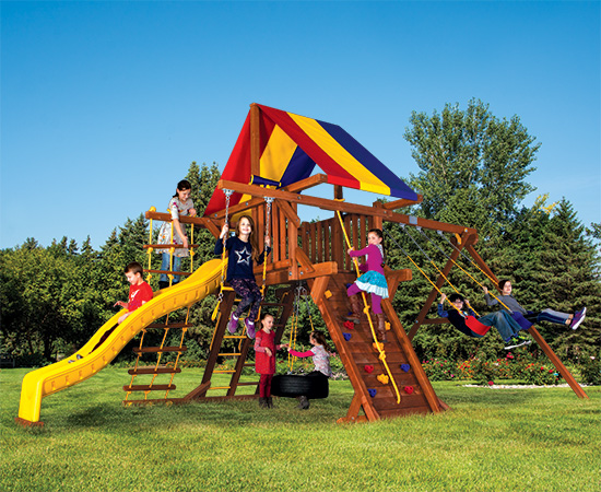 24C Carnival Castle Pkg II Popular Swing Set