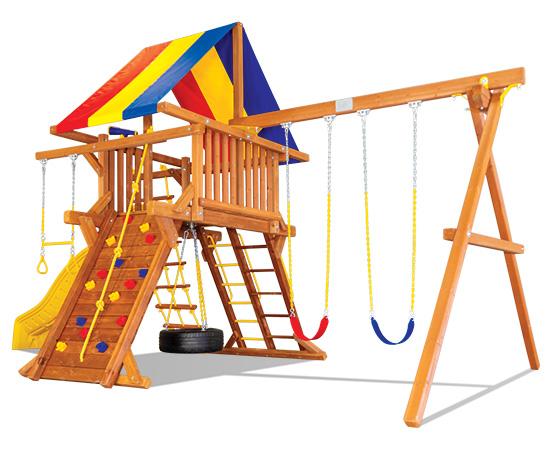 24C Carnival Castle Pkg II Popular Swing Set